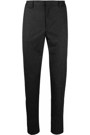 BOSS Pressed-crease four-pocket tailored trousers