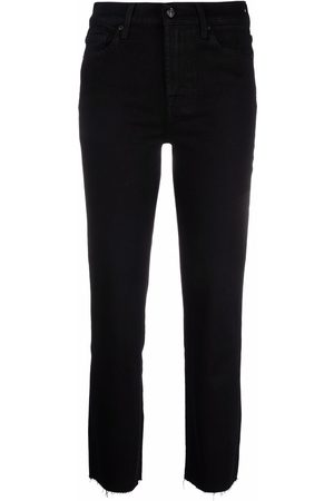 7 For All Mankind Women Bootcut & Flares - Raw-hem cropped jeans