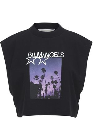 Palm Angels Shooting Stars Muscle Cotton T-shirt