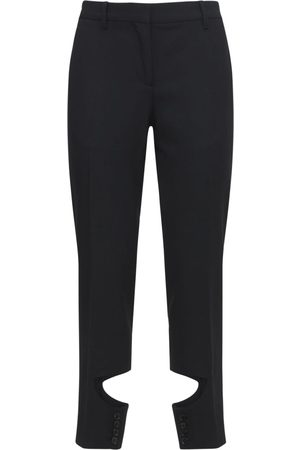 BURBERRY Wool Pants W/cut Out Detail
