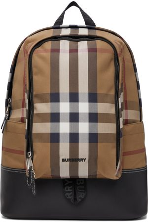 Burberry Tan Check Jack Backpack
