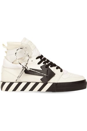OFF-WHITE Men Sneakers - Vulcanized High Top Leather Sneakers