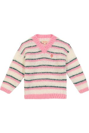 The Animals Observatory Toucan striped wool-blend sweater