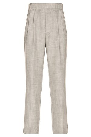 FEAR OF GOD Double Pleated Tapered Trouser in Light Heather