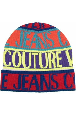 Versace Jeans Couture All-over logo print beanie