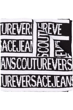 Versace Jeans Couture Men Scarves - Logo intarsia knitted scarf