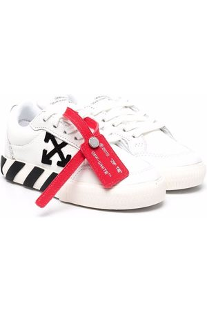 OFF-WHITE Boys Sneakers - LOW VULCANIZED CALF LEATHER BLACK