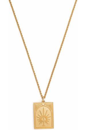 TOM WOOD Engraved pendant necklace
