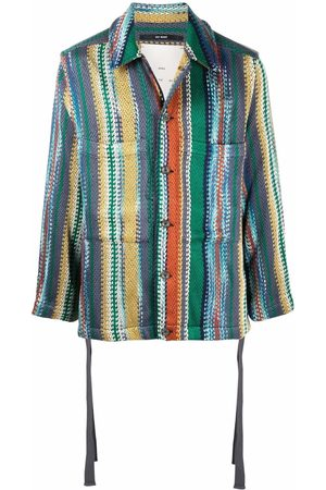 SONG FOR THE MUTE Vertical-stripe shirt jacket
