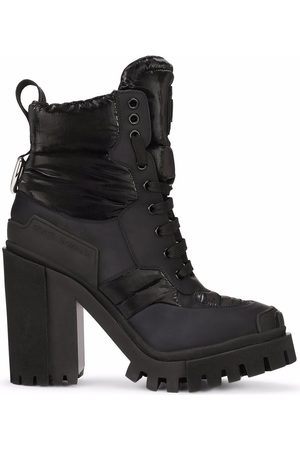 Dolce & Gabbana Logo-patch padded ankle boots