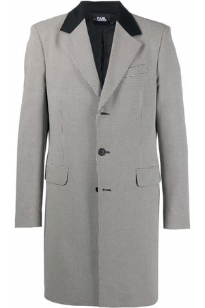 Karl Lagerfeld Fitted single-breasted coat