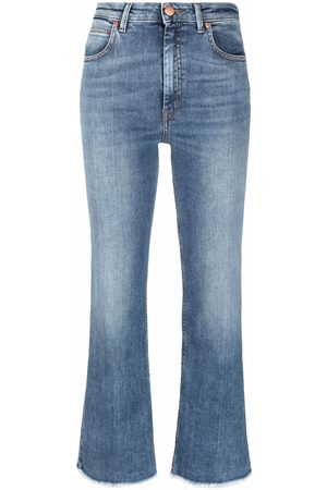 PT05 Cropped boot-cut jeans