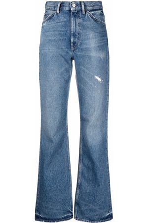 Acne Studios Women Bootcut & Flares - Distressed-effect bootcut jeans