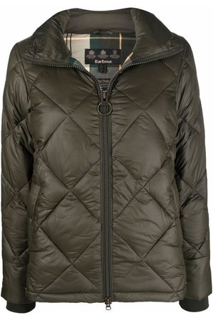 Barbour Women Jackets - Alness quilted high-neck jacket