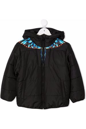 MARCELO BURLON Boys Jackets - BLUE GRIZZLY WINGS NY PUFFER LIGH