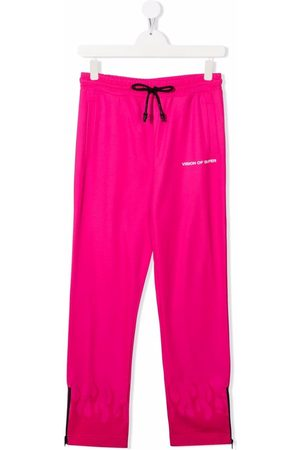 Vision Of Super Tracksuit - TEEN flame-trim straight joggers