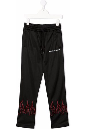 Vision Of Super Boys Tracksuit - Flame-trim straight joggers