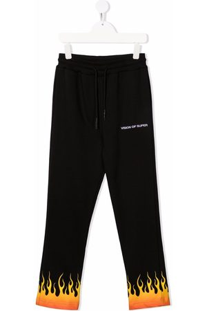 Vision Of Super Flame-print straight joggers