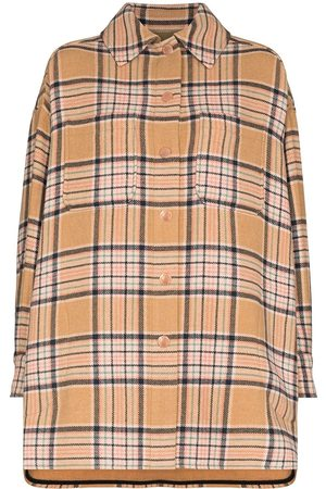 See by Chloé SBC CLLR LS CHECK WOOL COAT BEIGE