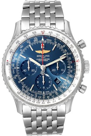 Breitling Navitimer 01 46Mm Aurora Blue Dial Mens Watch Ab0127 Box Papers