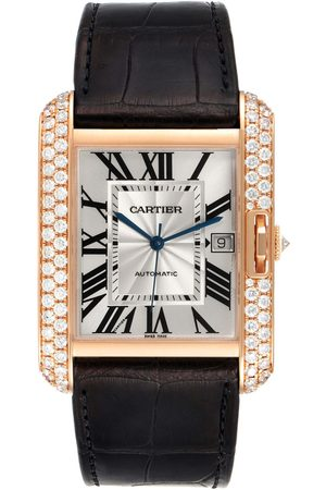 Cartier Men Watches - Tank Anglaise Xl Rose Gold Diamond Mens Watch Wt100021 Box Papers
