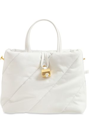 OFF-WHITE Nailed Zipped Quilted Leather Tote Bag