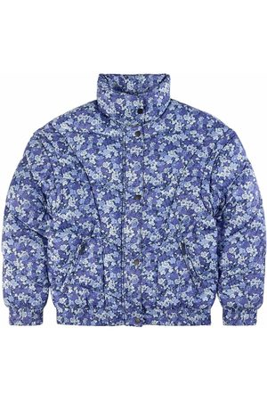 Les Coyotes de Paris Puffer Jacket With Removable Sleeves In Flower Print All-Over Flower
