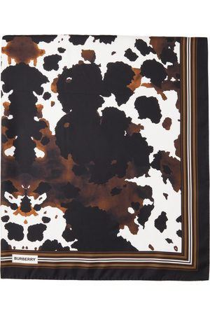 Burberry Double-Faced Camouflage Print Scarf