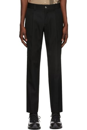 Burberry Technical Wool Cropped Tailored Trousers