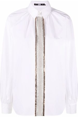 Karl Lagerfeld Bead-embroidered shirt