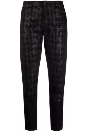 Karl Lagerfeld Abstract-print tapered jeans
