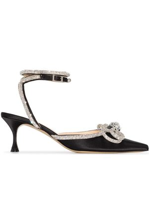Mach & Mach Double Bow crystal-embellished 65mm pumps