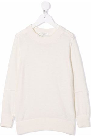 Paolo Pecora Boys Jumpers - Fine-knit ribbed-trim jumper