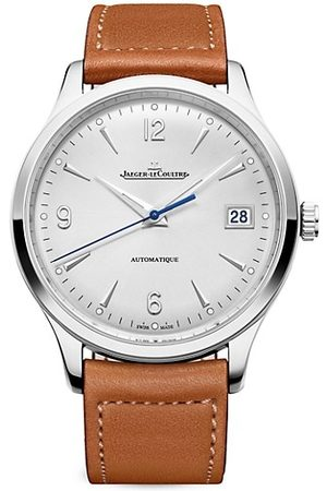 Jaeger-LeCoultre Master Control Stainless Steel Leather-Strap Watch