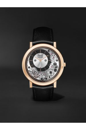 PIAGET Men Watches - Altiplano Ultimate Automatic 41mm 18-Karat Rose Gold and Leather Watch, Ref. No. G0B43120