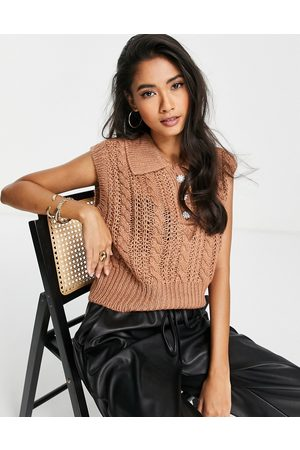 Y.A.S Women Vests & Camis - Cable knitted vest in