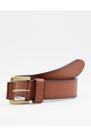 Polo Ralph Lauren Leather belt in tan with pony logo