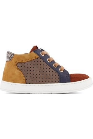 Pom d'Api Brown Mousse Zip Clay Sneakers