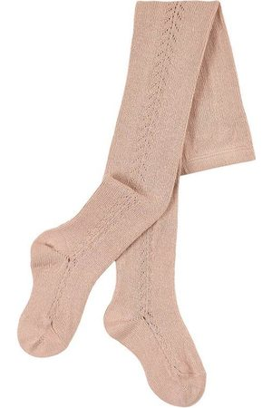 Condor Side Openwork Tights Old Rose