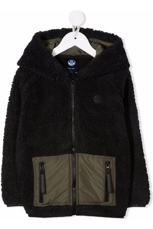 North Sails Kids Two-tone faux-shearling jacket