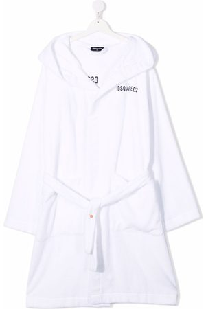 Dsquared2 Kids TEEN logo-embroidered cotton robe