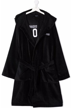 Dsquared2 TEEN logo-embroidered cotton robe