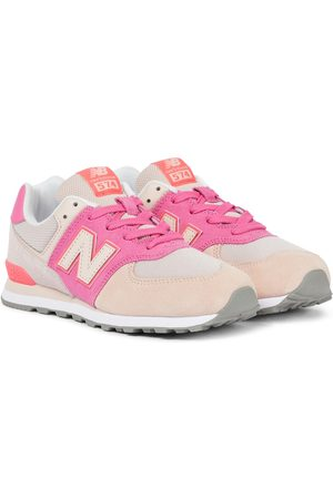 New Balance Kids 574 Color Theory suede sneakers
