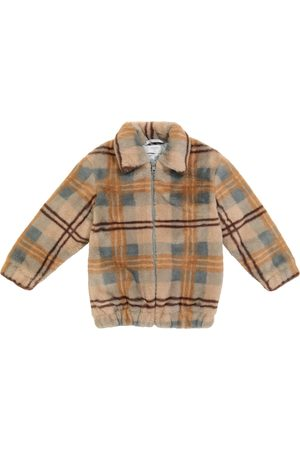 PAADE Checked faux fur jacket