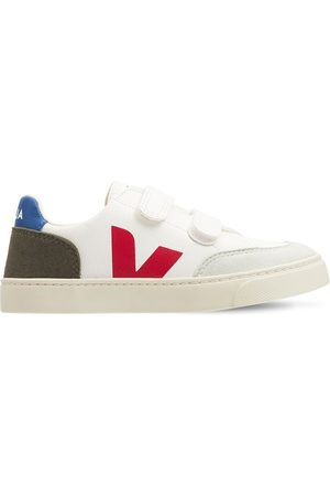 Veja Boys Sneakers - Leather & Faux Suede Strap Sneakers