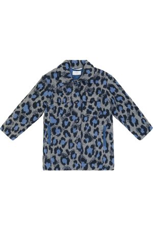 PAADE Leopard-print wool and cotton-blend coat