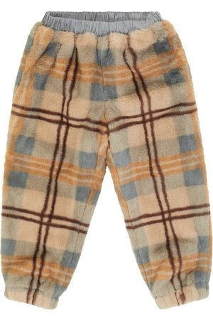 PAADE Checked faux fur sweatpants