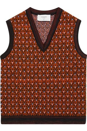 PAADE Patterned wool-blend vest