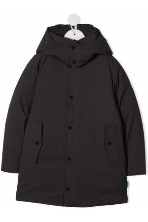 Save The Duck Kids Hooded button-down coat