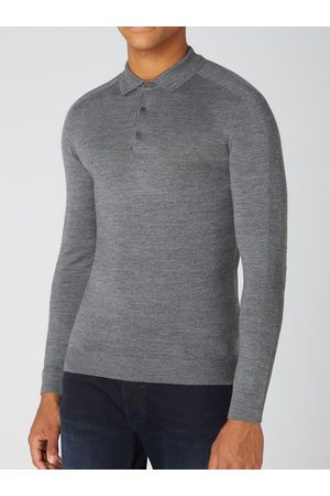 Remus Uomo Long-Sleeved Knitted Polo Shirt